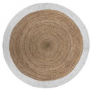 wholesale Carpets & Flooring: white edge jute rug d120, white