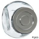 bocal epices verre 4x0,2l, transparent