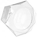boite capsules hexagonale x60, transparent