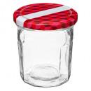 glazen pot jam 6x0,28l doos, transparant