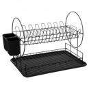 wholesale Kitchen Utensils: dish drainer chrom + polypropylene 15 plate 2nvx,