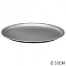 32cm signature pizza plate, black