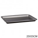 rectangle plate 35x25cm signature, black