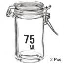 vaso jarro + capacidad 75ml x2, transparente