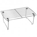 etagere simple chrome pliante, argent