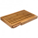 bamboo bread board + knife, colorless