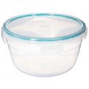 boite plast ronde 1l clipeat, bleu