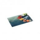 planche à découper ver 30x20 epices, multicolore