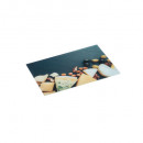 glass cutting board 30x20 fromag, multicolored