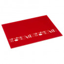 cutting board glass 40x30 red, red