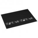 snijplank glas 40x30 zwart, zwart