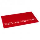 planche à découper verre 52x30 rouge, rouge