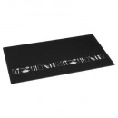 snijplank glas 52x30 zwart, zwart