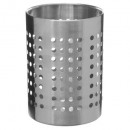 olla utensilios grandes de acero inoxidable, plata