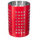 utensilios de cocina acero inoxidable rojo, rojo