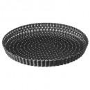 tart mold 28cm metal removable bottom, gray