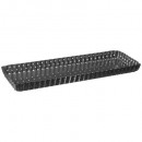 rectangle mold 35x11 metal removable bottom, gray