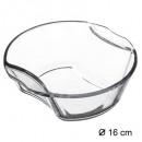 flat mini round 16cm glass, transparent