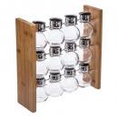 wholesale Houshold & Kitchen: pot spicesx12 + bamboo stand, colorless