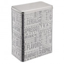 boite cereales silver words, argent