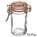 szklany pojemnik hermetyczny 10x0,06l pudełko, bez