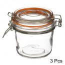 pot terr glas hermet 3x0,325l, kleurloos