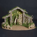 wholesale Figures & Sculptures: christmas crib empty + 5 led h22,5cm
