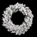 ingrosso Decorazioni: corona 60cm fioritura floq