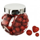 accessories jar 3 plate mix glitter rg, 3-