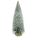 wholesale Decoration: artificial tree flocked natural table 25cm