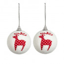 christmas decoration ball polka dots 60mmx2, 2-fai