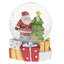 decoration ball snow Santa Claus standing 65mm, 2-
