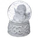 groothandel Stationery & Gifts: decoratie bal sneeuw engel 65mm, 2- maal geassorte