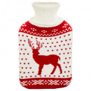 hot water bottle 1.7l 20.5x33cm, 2- times assorted