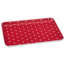 red pea plate 30x22cm