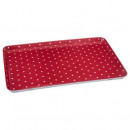red pea plate 45x30cm