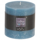 10x10 blue rustic round candle, medium blue