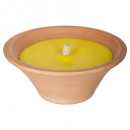 bougie vasque citronnelle280g, jaune