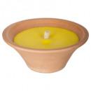 tazón de fuente de la vela citronella280g, amarill