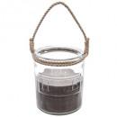 geurkaars sandelhout glas 780 g, grijs