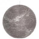 bougie boule rustic gris d15, gris