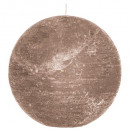 bougie boule rustic taupe d15, taupe