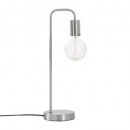chrome silver metal lamp h46, silver