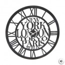 Vintage metal clock town d60, black