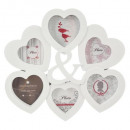 pele-mele plast 6ph heart, white