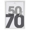 weißer Kunststoff Bilderrahmen 50x70, weiß