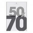 marco de fotos de plástico plateado 50x70, platead