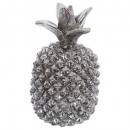 pineapple silver resin pm 19cm, silver