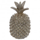 Ananas Champagne Harz pm 19cm, Champagner