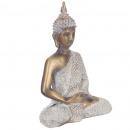 bouddha dore et blanc 27x20cm, or